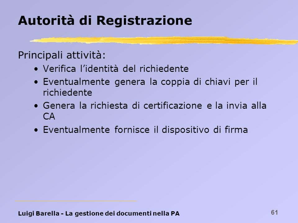 Autorità di Registrazione