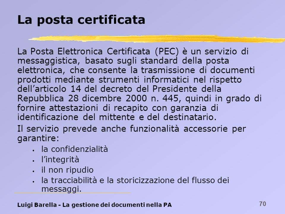 La posta certificata
