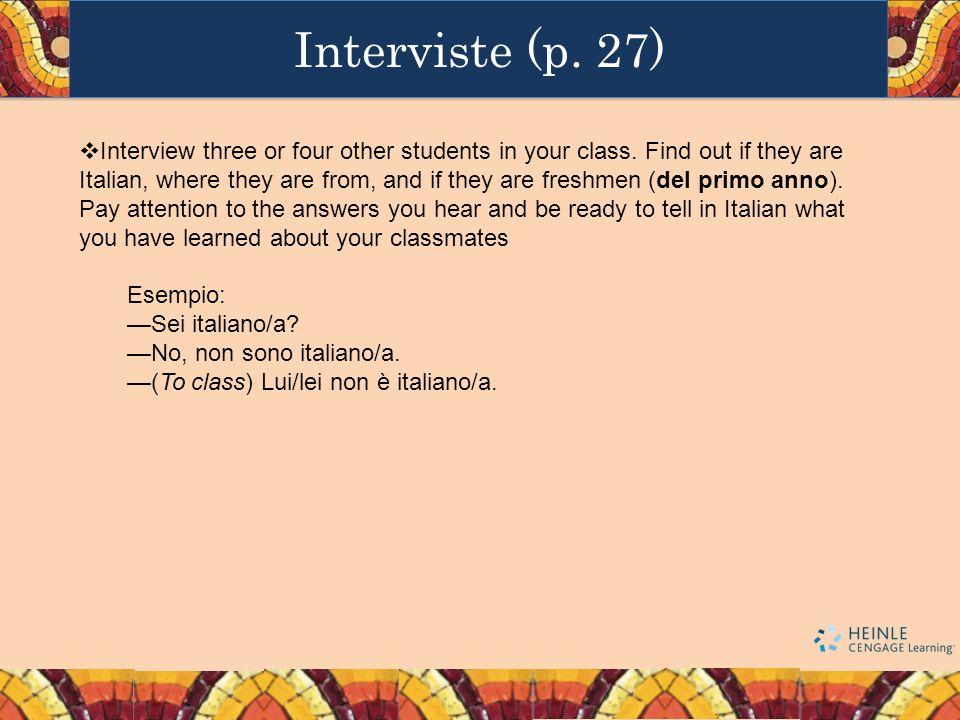 Interviste (p. 27)