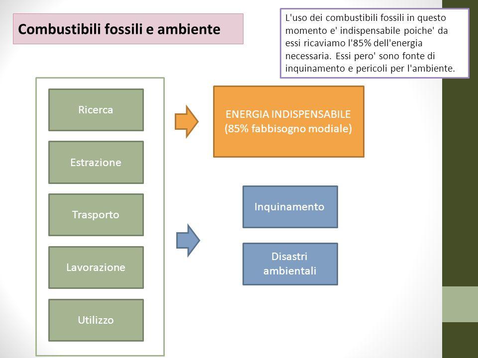 ENERGIA INDISPENSABILE (85% fabbisogno modiale)