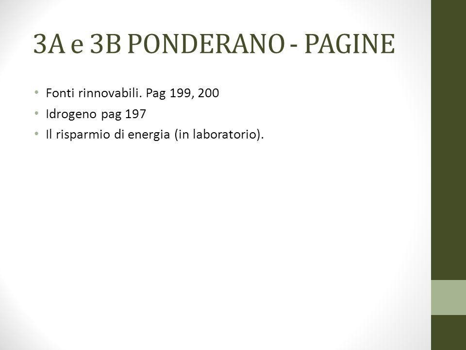 3A e 3B PONDERANO - PAGINE Fonti rinnovabili. Pag 199, 200