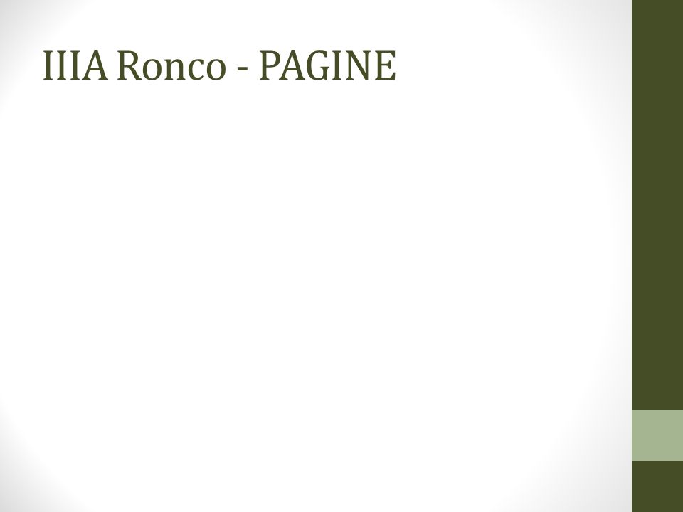 IIIA Ronco - PAGINE
