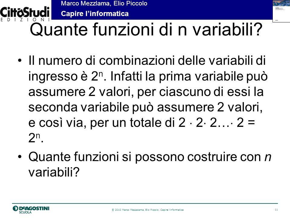 Quante funzioni di n variabili