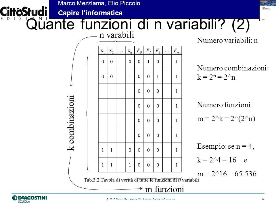 Quante funzioni di n variabili (2)
