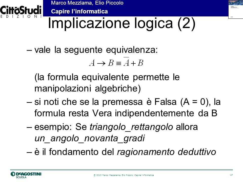 Implicazione logica (2)