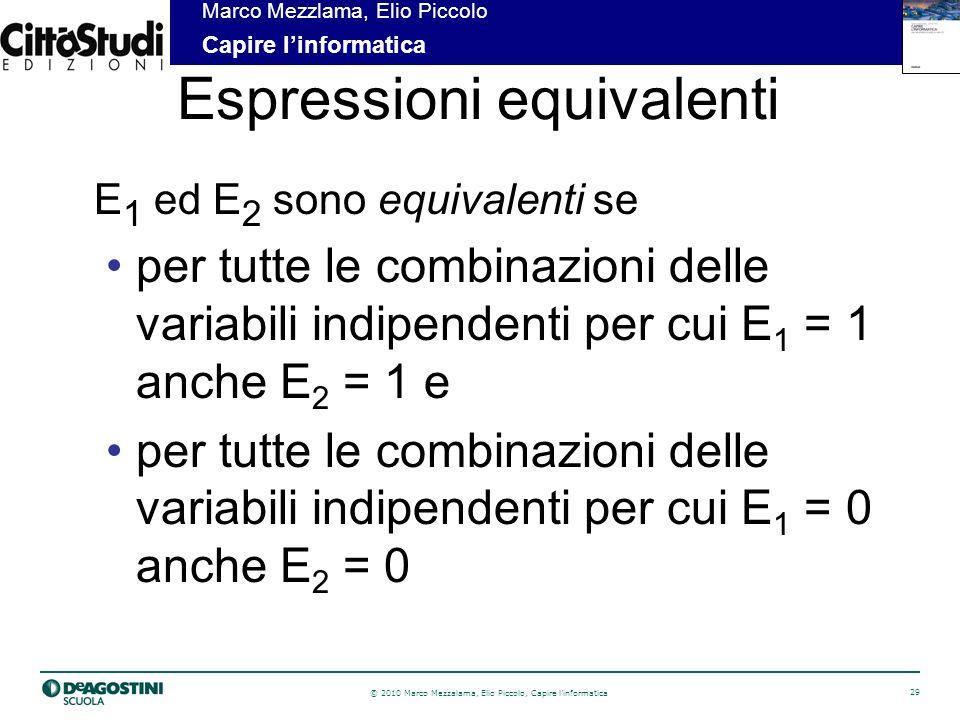 Espressioni equivalenti