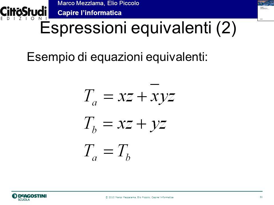 Espressioni equivalenti (2)