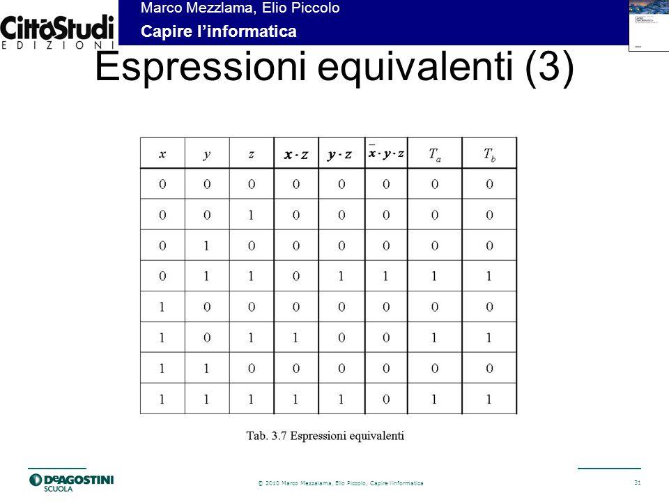 Espressioni equivalenti (3)