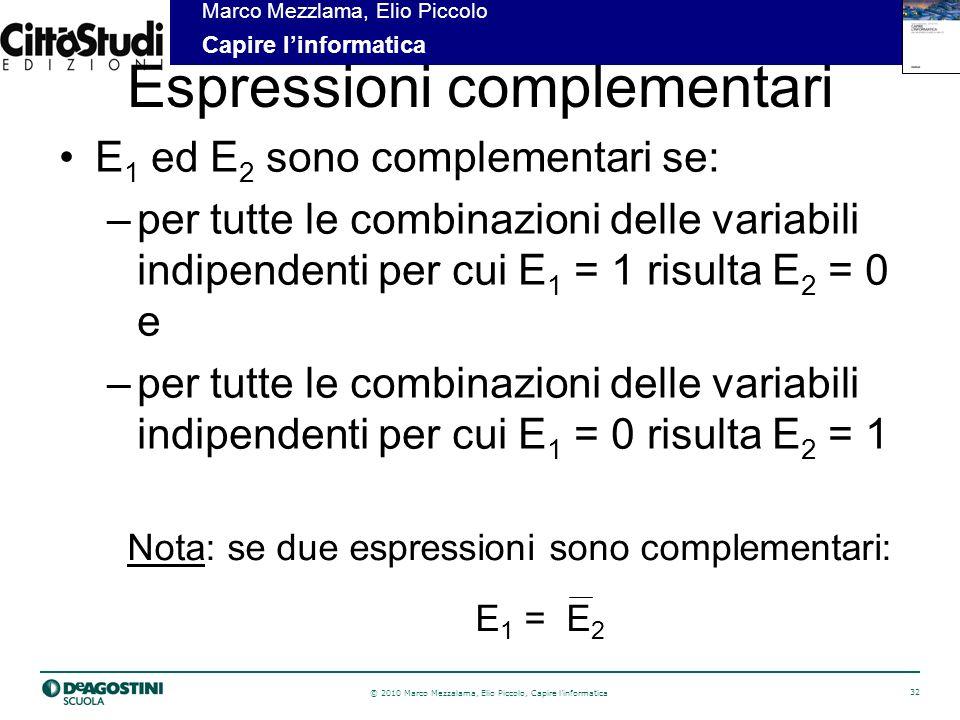 Espressioni complementari
