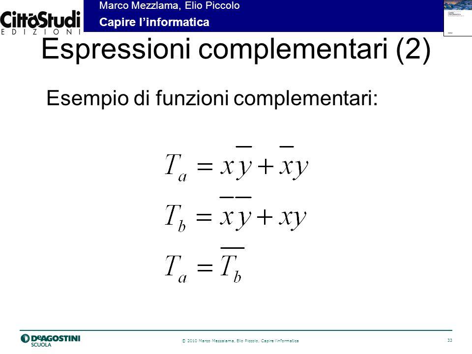 Espressioni complementari (2)