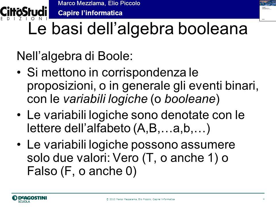 Le basi dell'algebra booleana