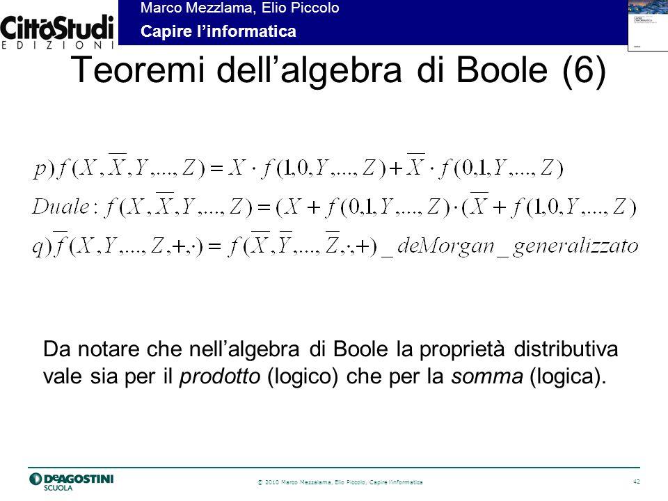 Teoremi dell'algebra di Boole (6)