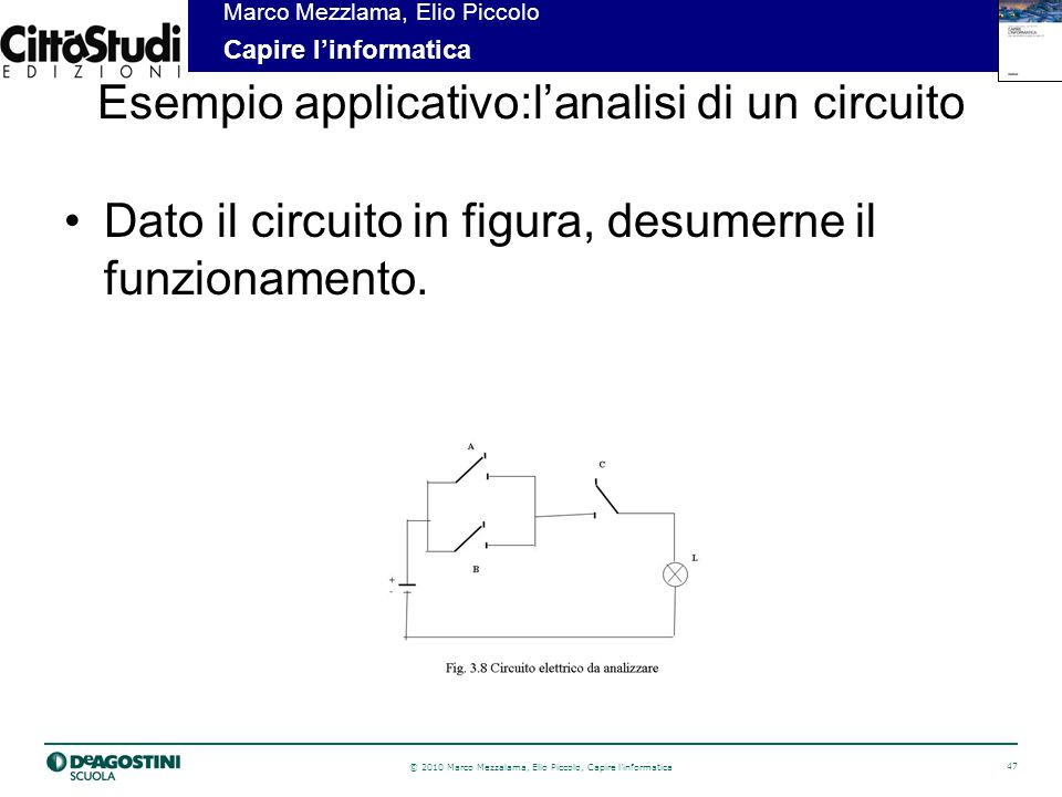 Esempio applicativo:l'analisi di un circuito