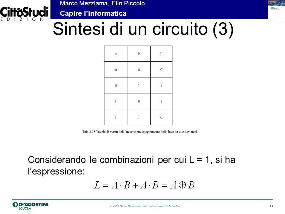 Sintesi di un circuito (3)