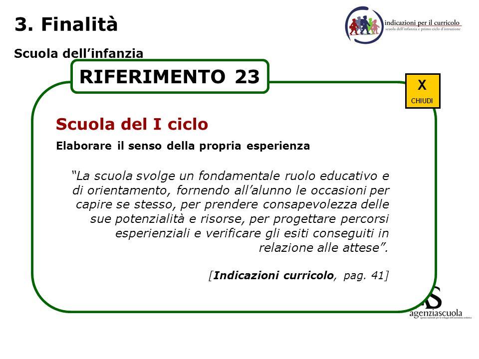 3. Finalità RIFERIMENTO 23 Scuola