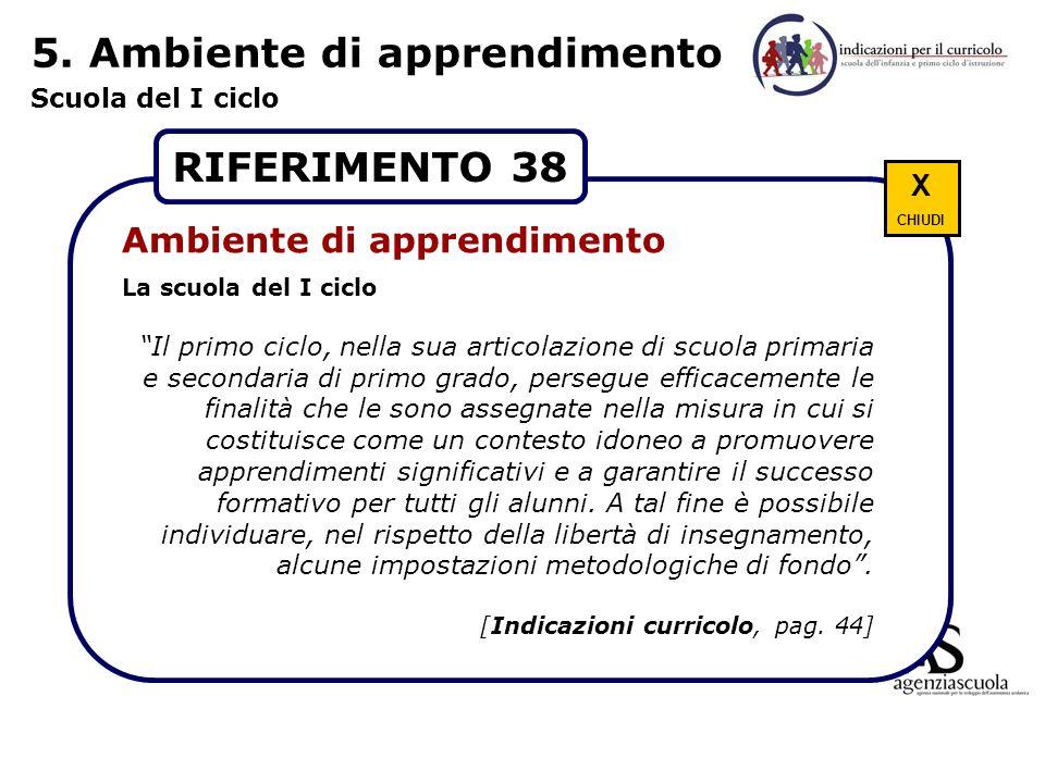 5. Ambiente di apprendimento