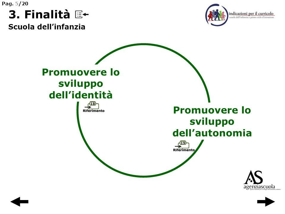 3. Finalità Promuovere lo sviluppo dell'identità