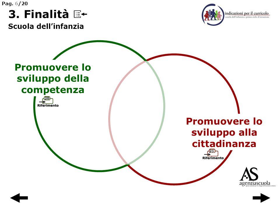 3. Finalità Promuovere lo sviluppo della competenza