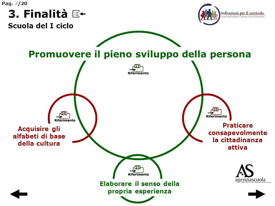 3. Finalità Promuovere il pieno sviluppo della persona