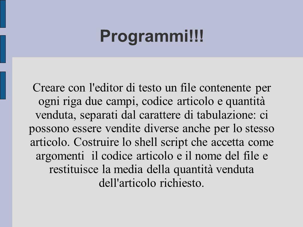 Programmi!!!