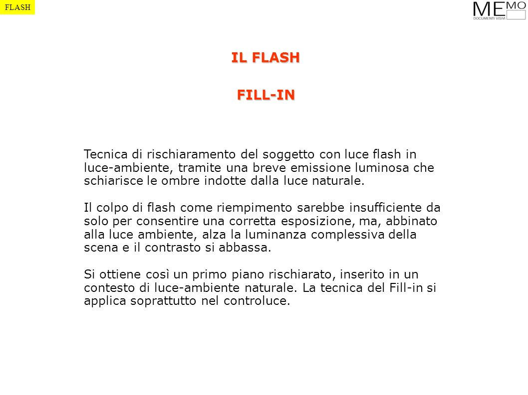FLASH IL FLASH. FILL-IN.
