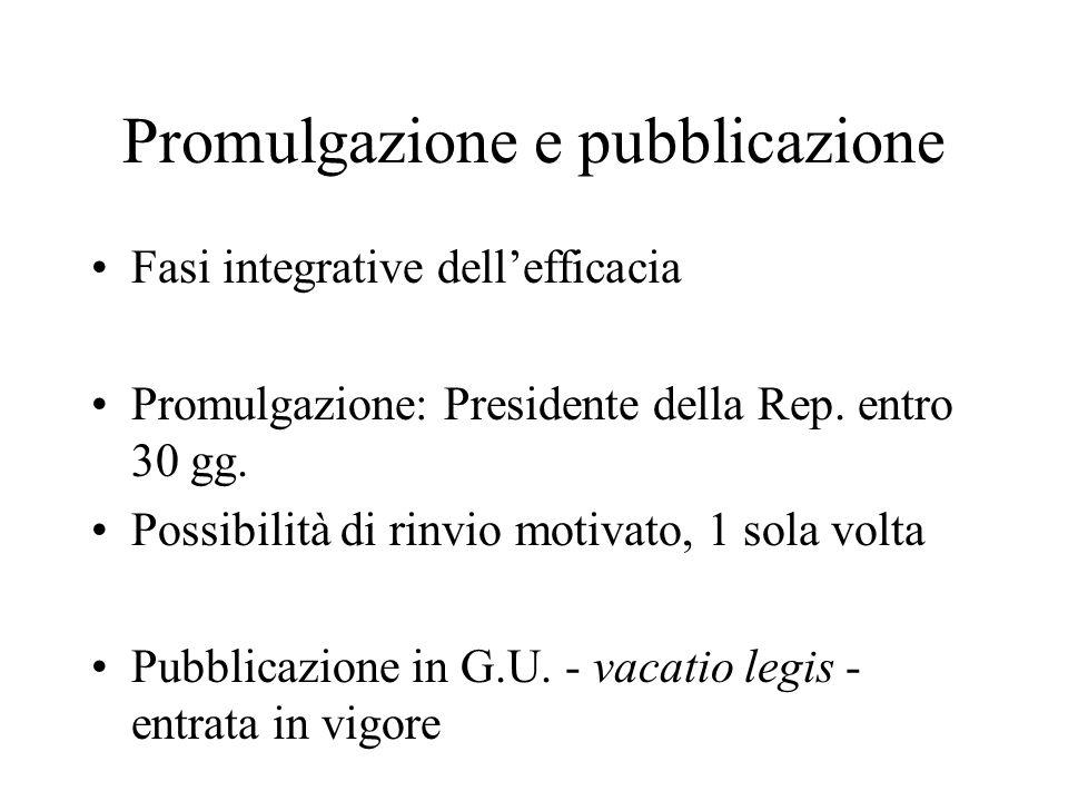 Promulgazione e pubblicazione