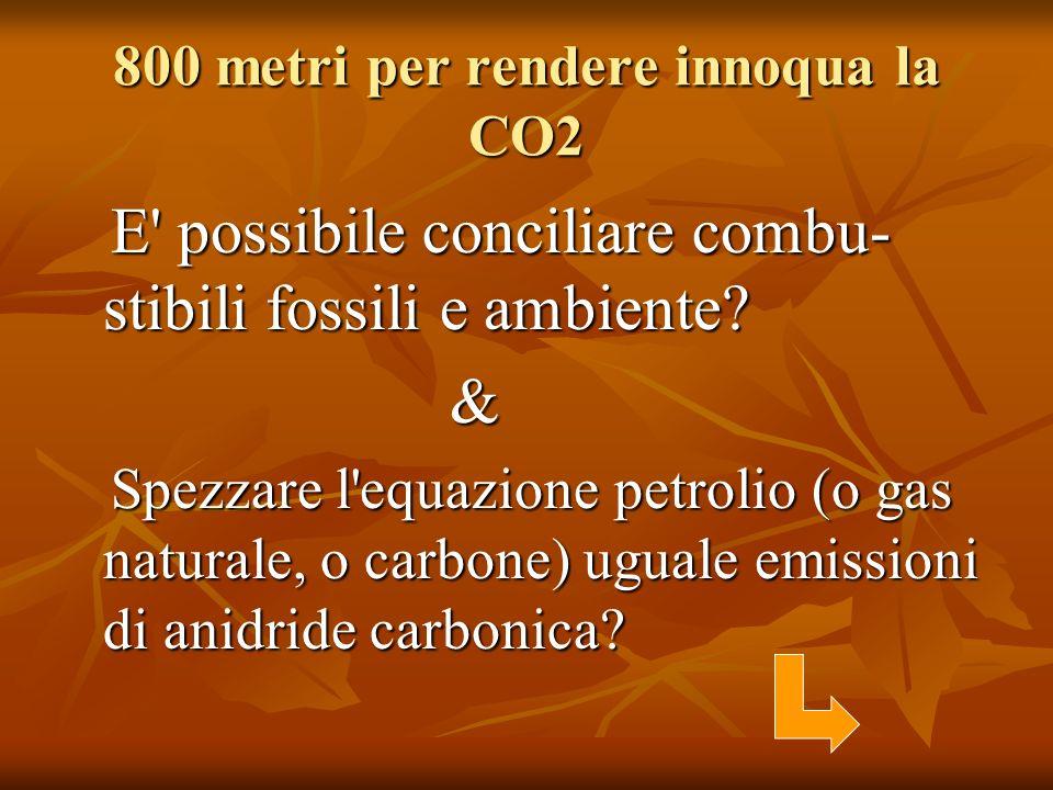 800 metri per rendere innoqua la CO2