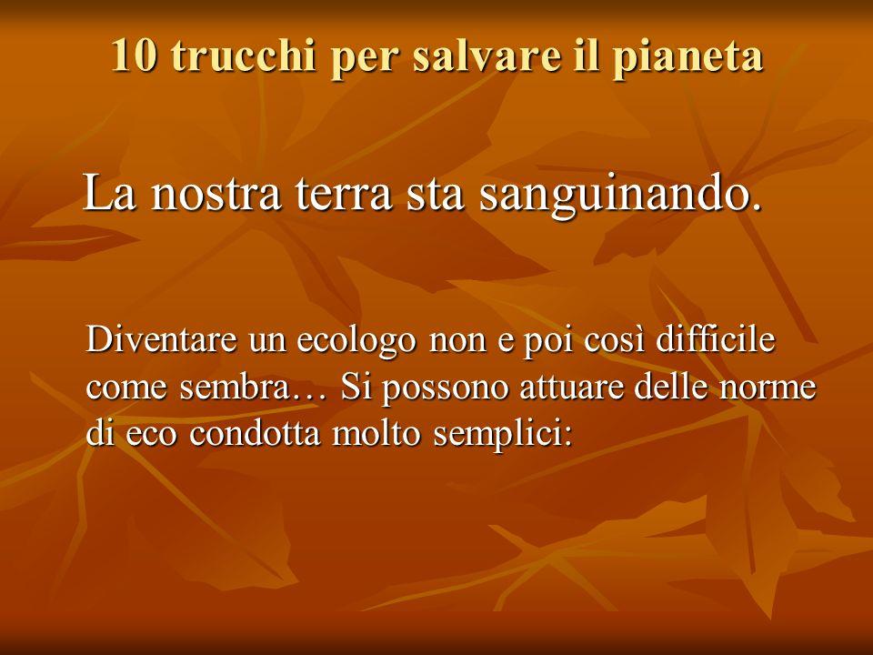10 trucchi per salvare il pianeta