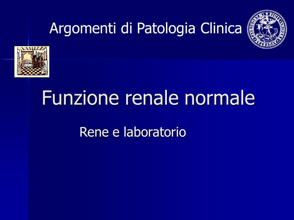 Funzione renale normale