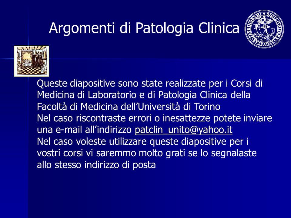 Argomenti di Patologia Clinica