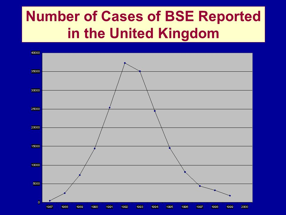 Number of Cases of BSE Reported in the United Kingdom
