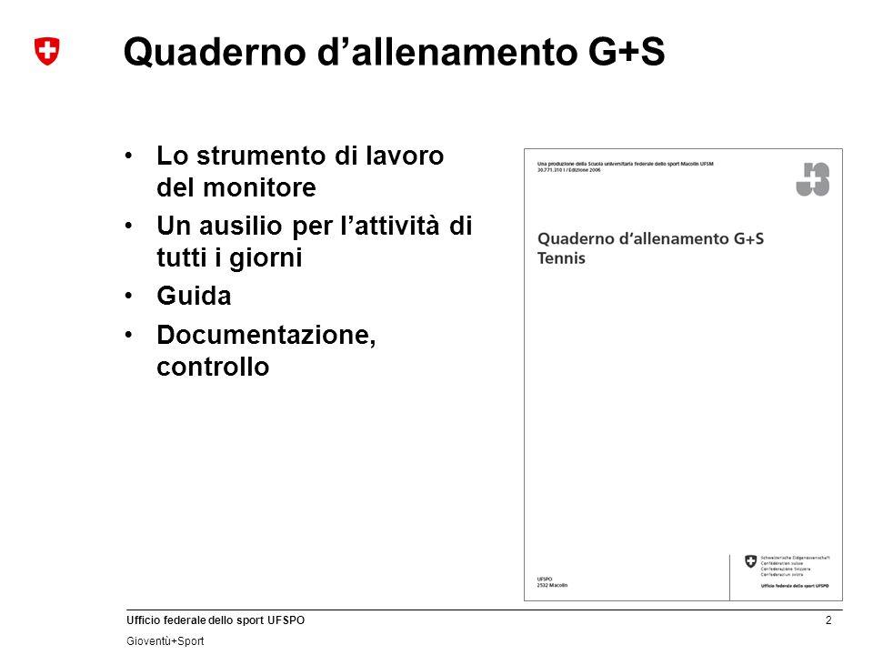 Quaderno d'allenamento G+S
