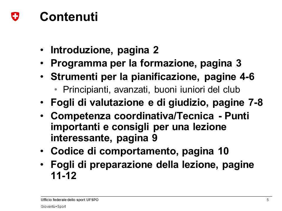 Contenuti Introduzione, pagina 2 Programma per la formazione, pagina 3