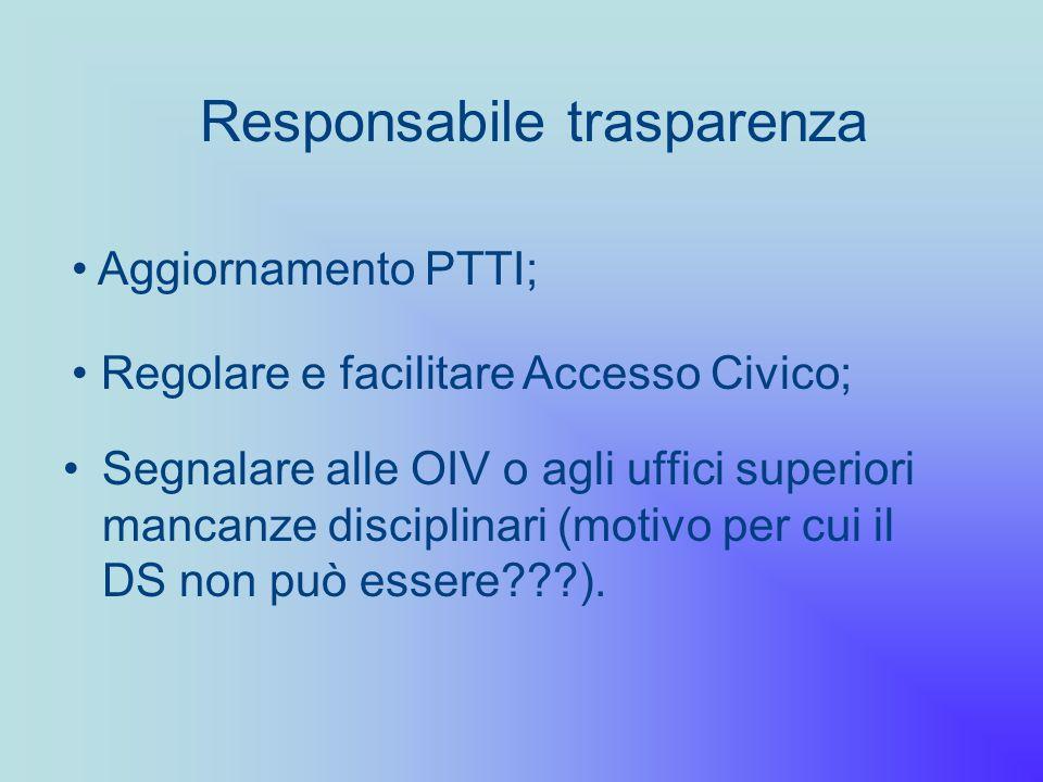 Responsabile trasparenza