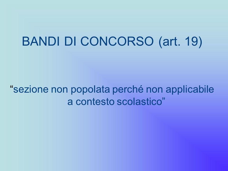 BANDI DI CONCORSO (art. 19)