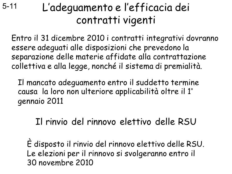 Il rinvio del rinnovo elettivo delle RSU
