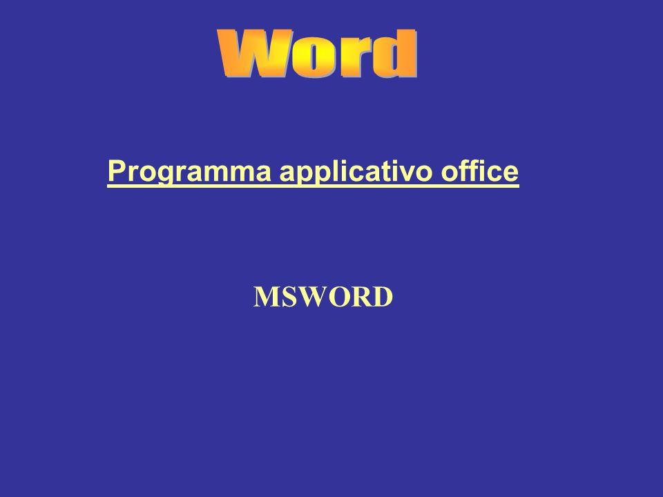 Programma applicativo office