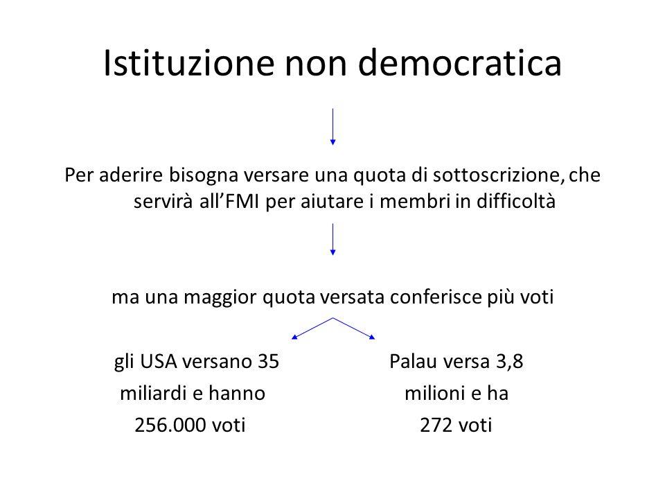 Istituzione non democratica