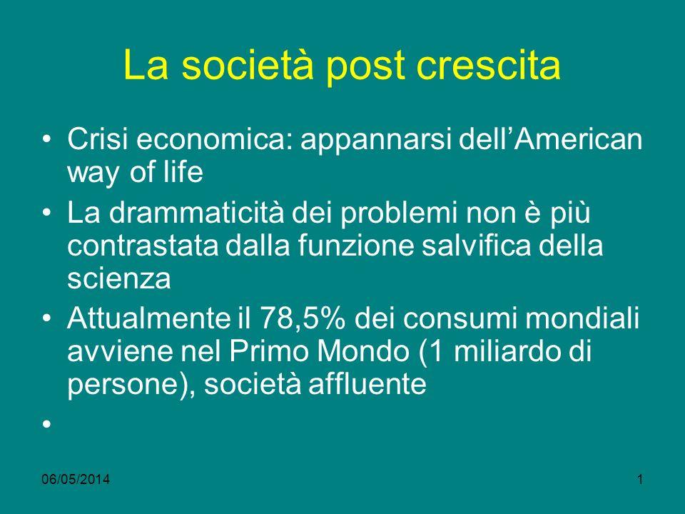 La società post crescita