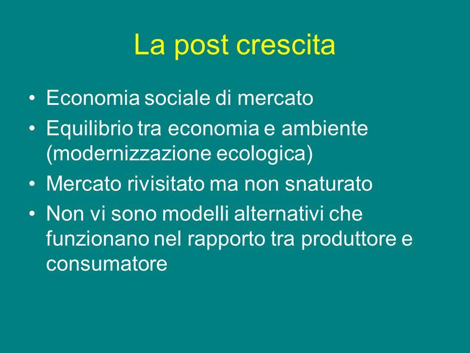 La post crescita Economia sociale di mercato