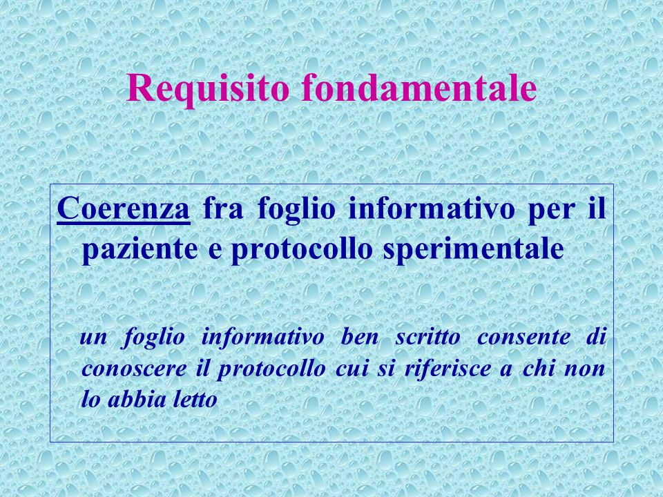 Requisito fondamentale