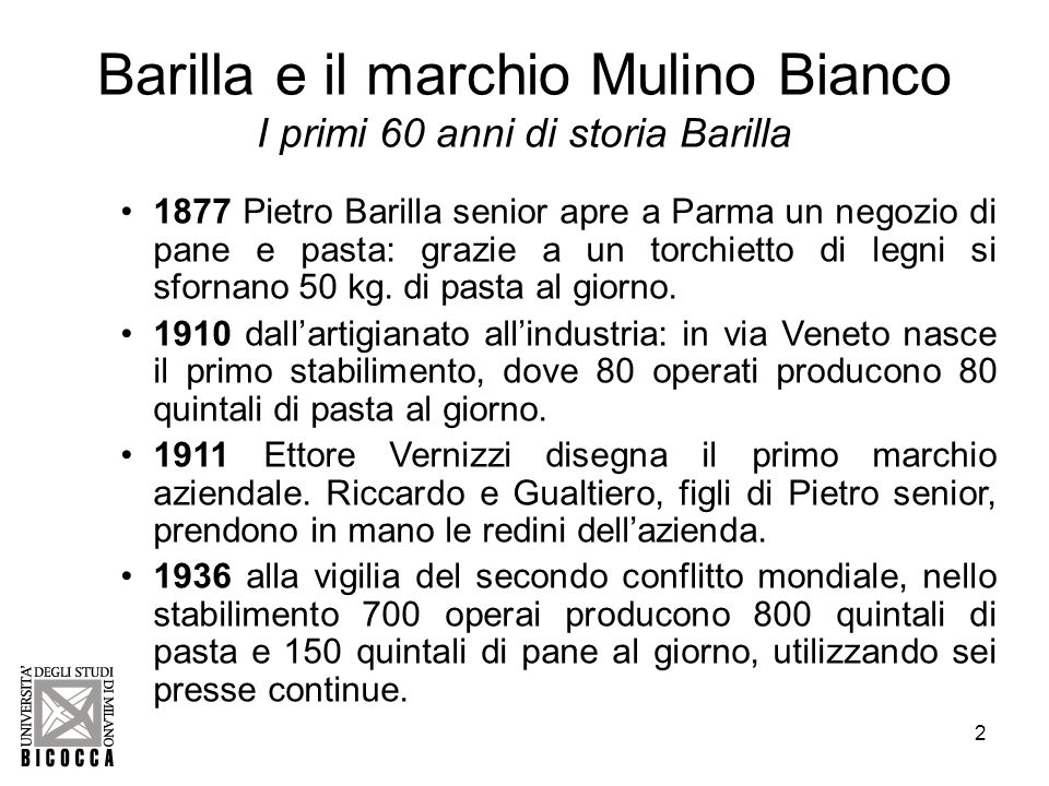 Barilla e il marchio Mulino Bianco I primi 60 anni di storia Barilla