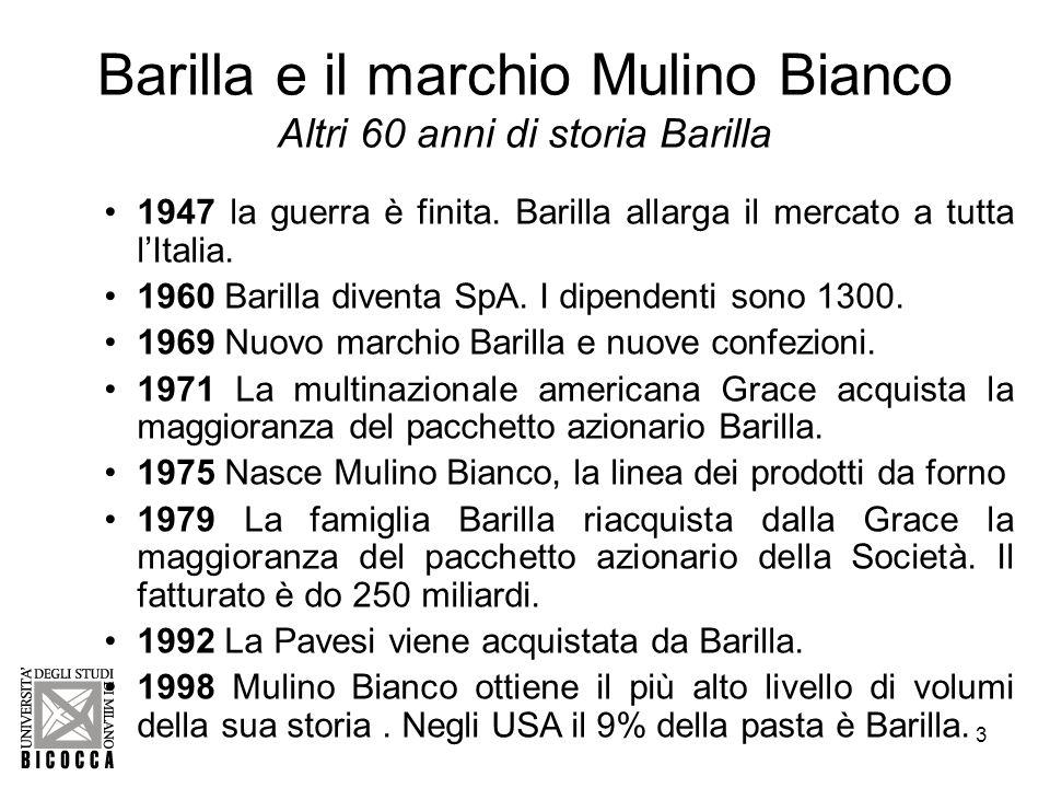 Barilla e il marchio Mulino Bianco Altri 60 anni di storia Barilla