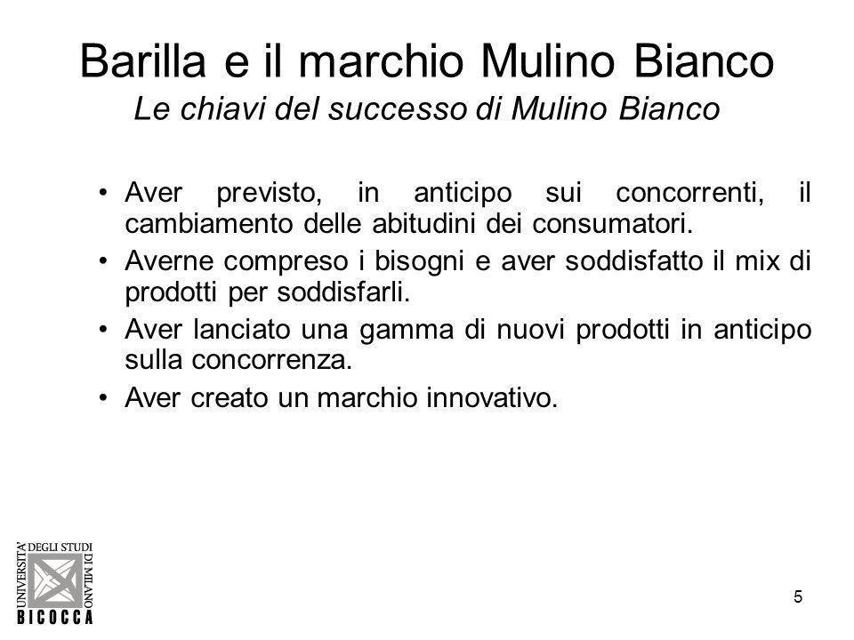 Barilla e il marchio Mulino Bianco Le chiavi del successo di Mulino Bianco