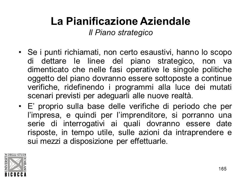 La Pianificazione Aziendale Il Piano strategico