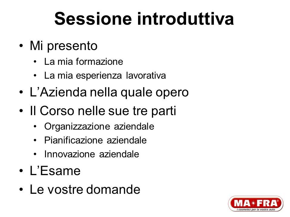 Sessione introduttiva