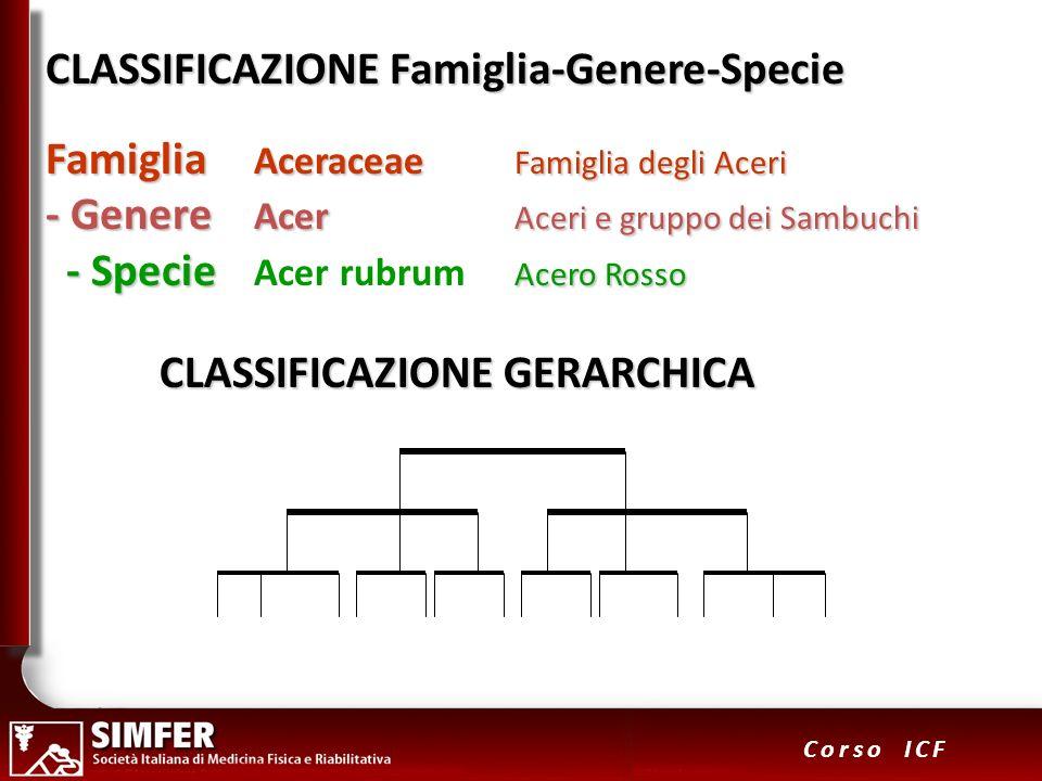CLASSIFICAZIONE Famiglia-Genere-Specie