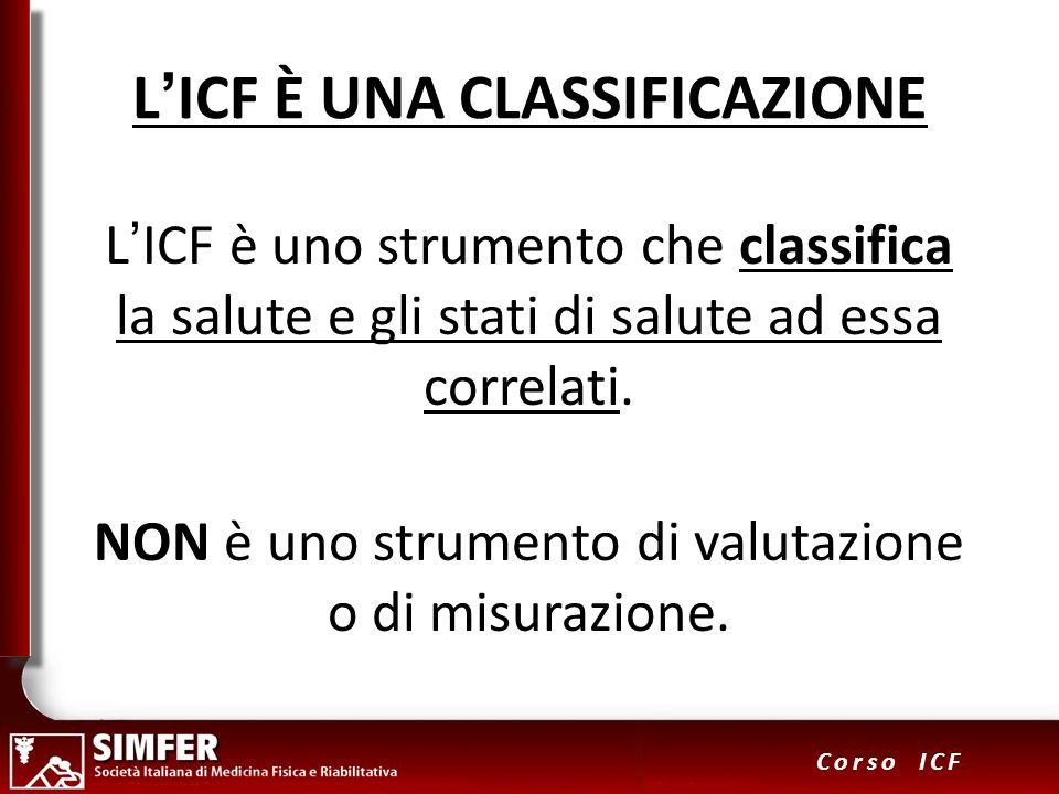 L'ICF È UNA CLASSIFICAZIONE