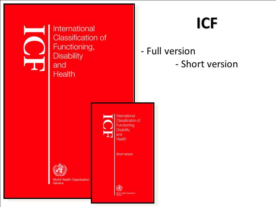 ICF - Full version - Short version