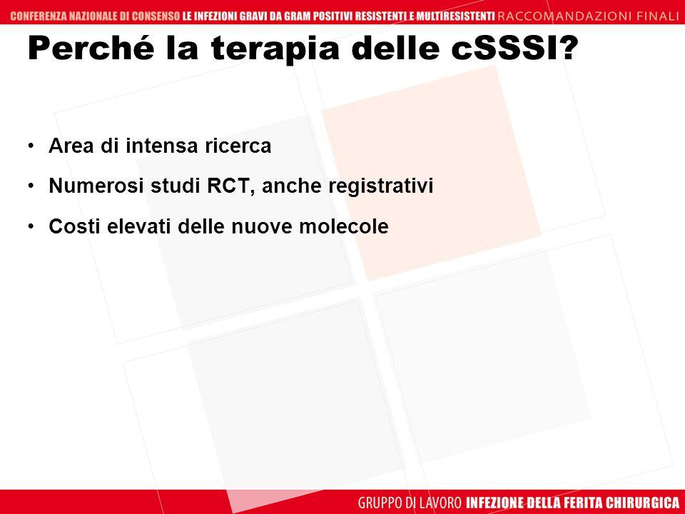 Perché la terapia delle cSSSI